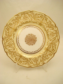 Beautiful Elaborate Raised Gilt Royal Doulton for Higgins & Seiter Dinner Plates
