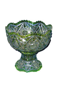 Val St. Lambert Crystal Punch Bowl