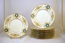 Rare ! 12 Minton for Tiffany Pate sur Pate Plates