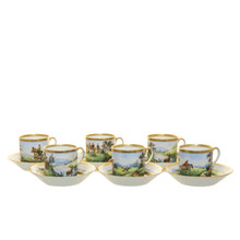 Hunt Cups and Saucers