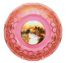 12 Royal Doulton Pink Castle Plates
