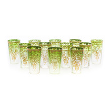 19th Century set of 12 Moser Green Tumblers