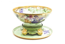 Limoges Punch Bowl With Under Tray