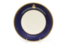 U.S. Presidential China Plate, Cobalt Blue and Gold