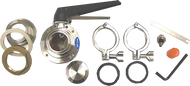 "#AK4 - Bulkhead Complete Accessory Valve Kit 2"" with Micro Sample Valve. (Includes BH4, BV4, SV3)"
