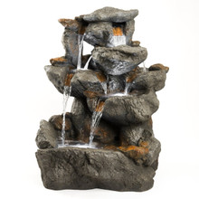 "33"" Granite Rock Fountain w/LED Lights"