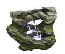 "25"" Horseshoe Rock Fountain w/LED Lights"