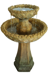 Travertine 2-Tier Fountain