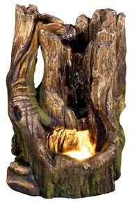 """11"""" Cedar Cove Log Fountain w/LED Light"""