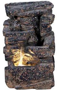 "11"" Veyo Waterfall Rock Fountain w/LED Light"