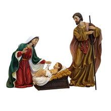 Quality Fiberglass-Resin Construction Hand-Painted Life-Like Christmas Nativity Scene
