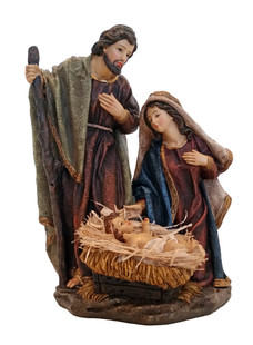 Quality Fiberglass-Resin Construction Hand-Painted Christmas Nativity Scene with Intricate Detail