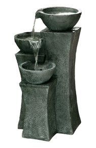 "The Vicenza - 18"" Tri-bowl Cascading Waterfall Fountain"