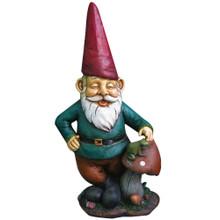 Garden Gnome w/ Mushroom & Frog
