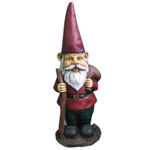 Garden Gnome w/ Walking Stick