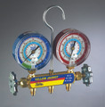 """Yellow Jacket 41632 Series 41 Manifold with 3 1/8"""" Gauges Manifold only, bar/psi, R-22/134a/413A"""