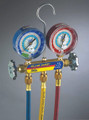 """MANIFOLD With 60"""" PLUS II™ standard fittings, psi, R22/134a/404A, °F (clamshell)"""