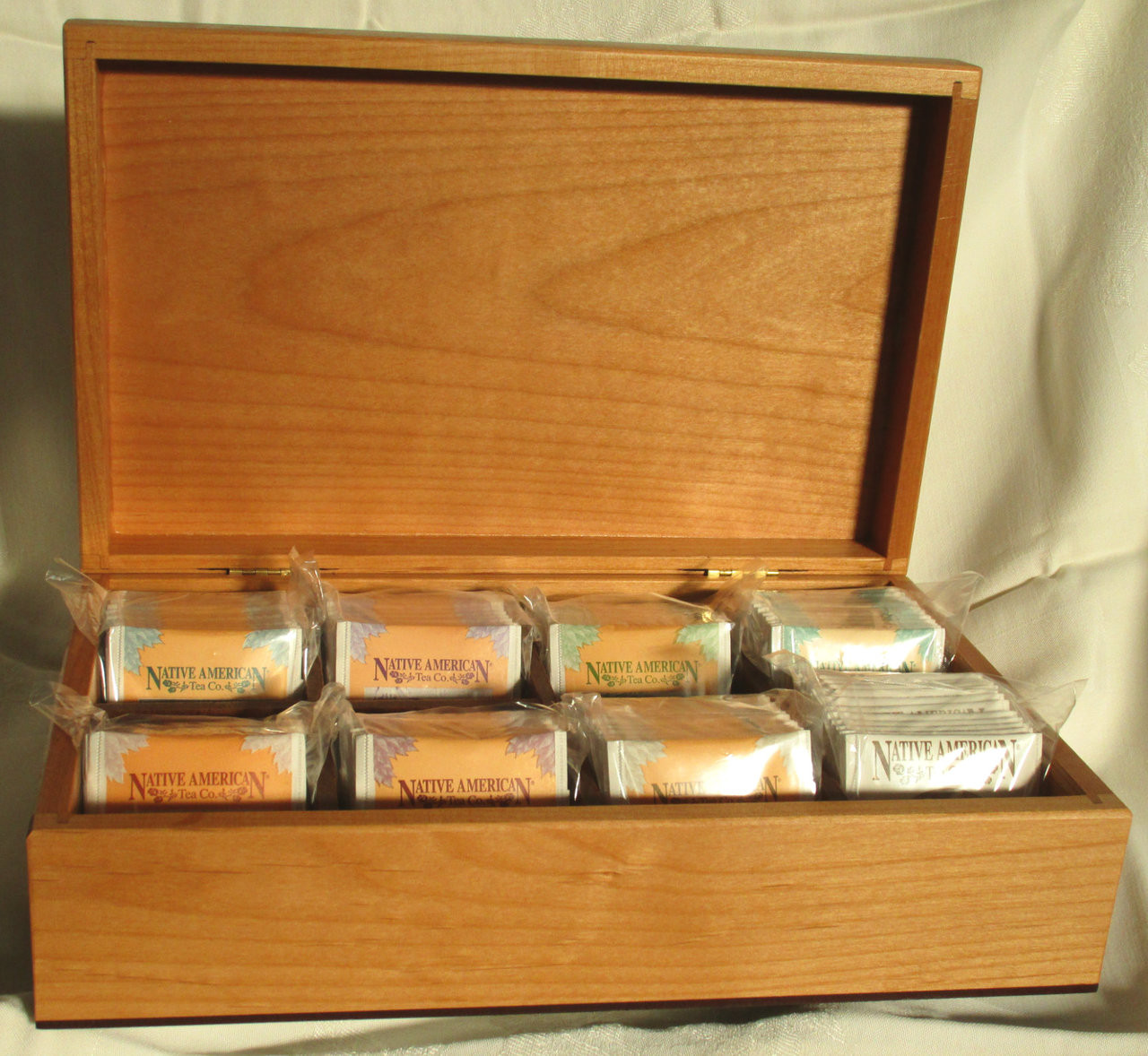 Open tea chest