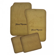 Floor Mat Set 4pc Carpeted Mats W/ GRAND WAGONEER Logo 1983-1991