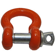 "3/4"" ORANGE POWDER COATED D-RING"