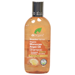 Dr Organic Moroccan Argan Oil Shampoo Organic Moroccan Argan Oil is a rich source of vitamins and essential fatty acids. Blended with several organic essential oils and fruit extracts to create a rich shampoo designed to smooth and cleanse cuticle fibres leaving hair looking and feeling rehydrated and revitalised. Contains Organic Virgin Argan Oil, Orange, Clove, Geranium, Lemon, Patchouli, Cinnamon, Rosewood, Wild Mint, Mandarin, Vanilla, Spearmint, Kigelia, Roselle and Baobab. Directions:  Massage shampoo into wet hair. Rinse and repeat as necessary. For best results follow with Dr Organic Moroccan Argan Oil Conditioner. Ingredients:  Aloe barbadensis leaf juice, Aqua, Cocamidopropyl betaine, Sodium cocoamphoacetate, Sodium lauroyl sarcosinate, Coco glucoside, Glyceryl oleate, Palmitamidopropyltrimonium chloride, Glycerin, Caprylyl/Capryl glucoside, Argania spinosa (Argan) oil, Citrus aurantium dulcis, Eugenia caryophyllus (Clove) leaf oil, Pelargonium graveolens (Geranium) oil, Citrus lemon peel oil, Pogostemon cablin (Patchouli) oil, Cinnamomum zeylanicum (Cinnamon) leaf oil, Aniba rosaeodora (Rosewood) oil, Mentha arvensis herb oil, Citrus nobilis (Mandarin) peel oil, Vanilla planifolia (Vanilla) fruit extract, Mentha spicata herb oil, Kigelia Africana fruit extract, Hibiscus sabdariffa flower extract, Adansonia digitata fruit extract, Sorbitan sesquicaprylate, Sodium hydroxymethylglycinate, Sodium benzoate, Potassium sorbate, Benzyl alcohol, Dehydroacetic acid, Citric acid, Limonene, Eugenol, Linalool. Advisory information:  Massage shampoo into wet hair. Rinse and repeat as necessary. For best results follow with Dr Organic Moroccan Argan Oil Conditioner. Holland and Barrett