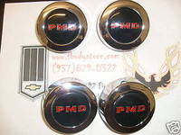 1967 - 1970 TRANS AM FIREBIRD RALLY II WHEEL CENTER CAP SET BLACK