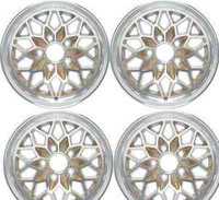TRANS AM SNOWFLAKE WHEEL SET GOLD OR SILVER WS6 15 X 8
