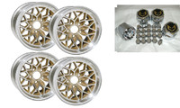 TRANS AM 15X8 INCH SNOWFLAKE WHEEL KIT w/ CENTER CAPS & LUG NUTS