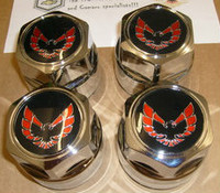 1977 - 1981 TRANS AM SNOWFLAKE WHEEL CENTER CAP SET WS6 RED
