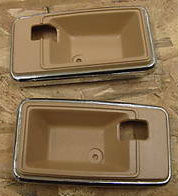 1975-1981 TRANS AM CAMARO INTERIOR DOOR HANDLE BEZEL CAMEL TAN
