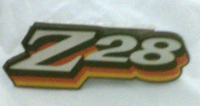 1978 CAMARO / Z28 GRILL EMBLEM - CORRECT 3 COLOR DESIGN! RED ORANGE