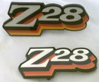 1978 CAMARO Z28 GRILL / FUEL  DOOR EMBLEM COMBO SET! 3 COLOR RED ORANGE
