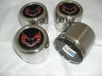 1976 - 1981 TRANS AM SNOWFLAKE WHEEL ROUND CENTER CAP SET RED