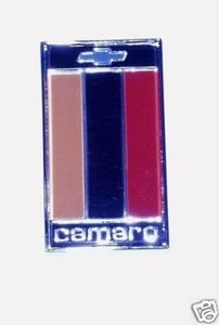 1975-1977 CAMARO TRUNK EMBLEM 75 76 77 ORANGE WHITE RED