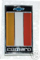 1975-1977 CAMARO FRONT HEADER PANEL EMBLEM ORANGE BLACK RED
