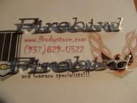 1971 - 1981 FIREBIRD FRONT FENDER SCRIPT EMBLEM SET
