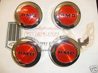 1970 - 1972 TRANS AM FIREBIRD RALLY II WHEEL CENTER CAP SET RED