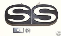 "1967 CAMARO ""SS"" 350 396 GRILLE EMBLEM & RETAINERS 67"