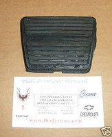 1967-1981 FIREBIRD TRANS AM CAMARO BRAKE CLUTCH PEDAL PAD