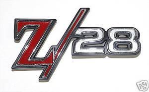 1969 Camaro Z28 Front Fender Emblem Z//28 Pair