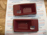 1975-1981 TRANS AM CAMARO DOOR HANDLE BEZEL DARK CARMINE RED