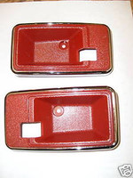 1975-1981 TRANS AM CAMARO INTERIOR DOOR HANDLE BEZEL RED 79