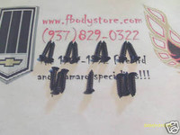 1978 - 1981 CAMARO Z28 HEADLIGHT PARK LIGHT BEZEL SCREW SET BLACK
