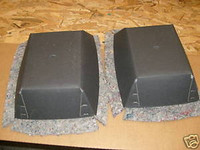 1970-1981 REAR SPEAKER ENCLOSURE SET W/ INSULATION