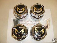 1977 - 1981 TRANS AM SNOWFLAKE WHEEL CENTER CAP SET WS6 GOLD