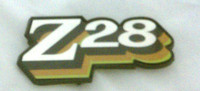 1978 CAMARO / Z28 FUEL DOOR EMBLEM - CORRECT 3 COLOR DESIGN! GREEN - GOLD