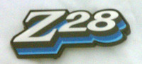 1978 CAMARO Z28 FUEL DOOR EMBLEM 3 COLOR BLUE