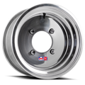 12x6 wheel with 4/110 bolt pattern and 4+2 offset made of .190 aluminum at Recreation Tires rectires.com