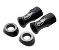 LiteLoc Lock Nuts with Beveled Washers (13mm) black