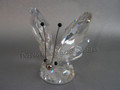 Butterfly, Large ~ Var 1 (Black tips on Rhodium antenna)